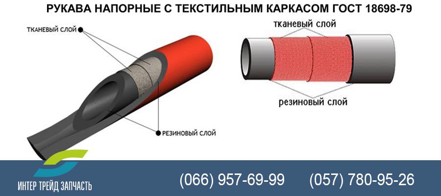 рукава напорные резиновые ГОСТ 18698-79