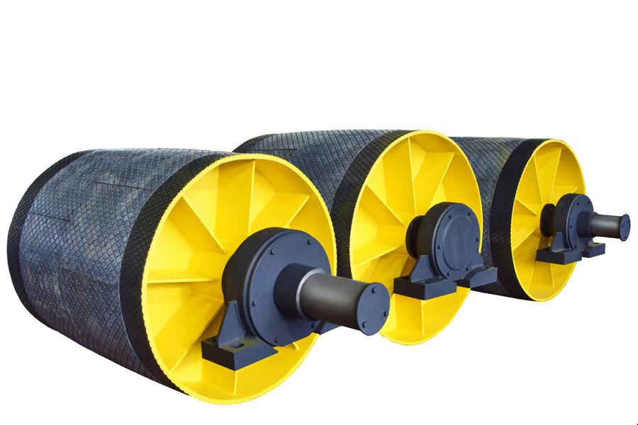 Натяжной барабан ленточного конвейера транспортер трос двери