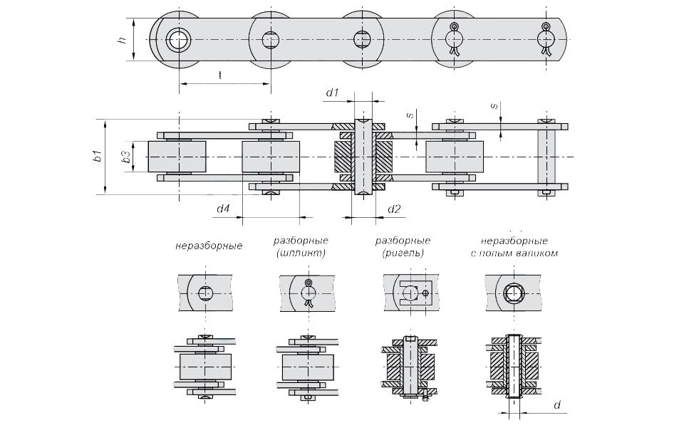 ЦЕПЬ МС112-3-160-3 от производителя в Украине