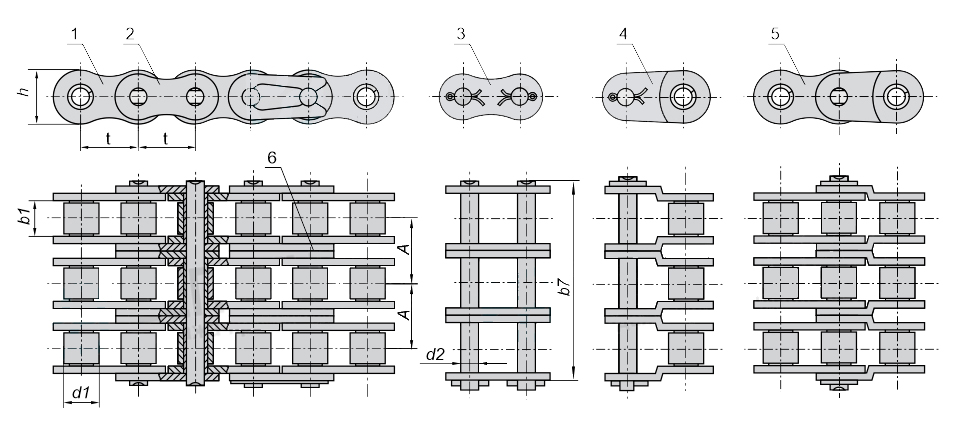 ЦЕПЬ 3ПР-31,75-265,5 чертеж и характеристики