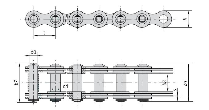 ЦЕПЬ G400-1-70 от производителя с доставкой