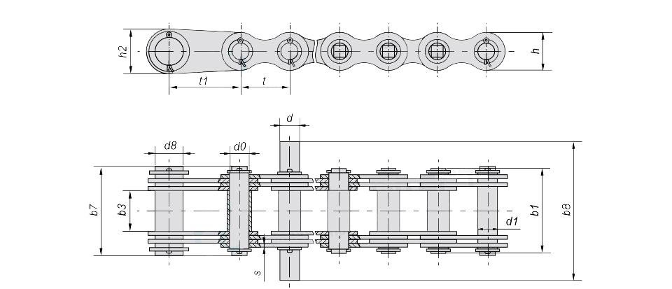Чертеж цепи G63-4-35