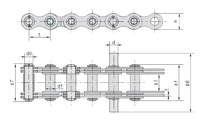 ЦЕПЬ G400-2-70 в каталоге Сталь Цепь