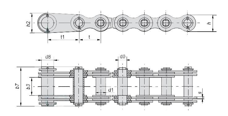 Цепи грузовые пластинчатые G63-3-35