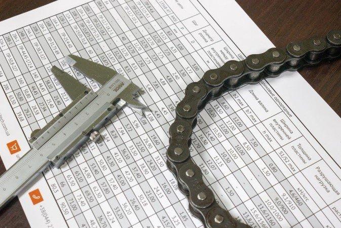 Как измерить шаг приводной цепи