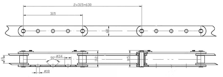 Цепь С315-315-12