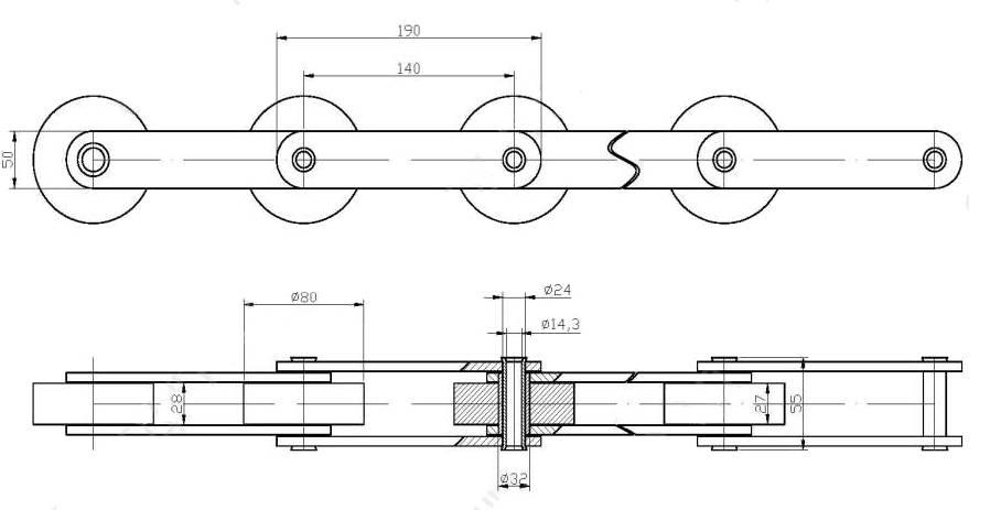 ЦЕПЬ Г4-ХКС-140-5 (МС80-3-140-3)