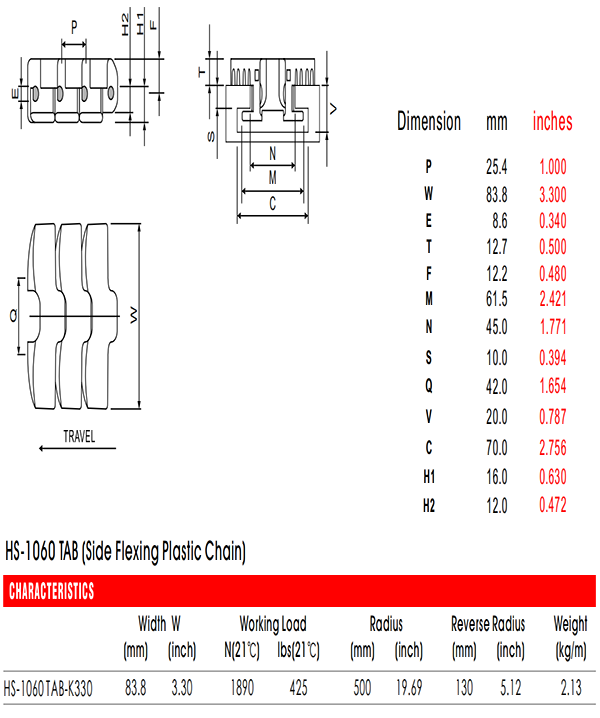 цепь HS-1060A-N-TAB