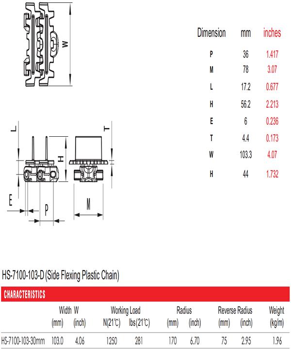 цепи HS-7100-103-D