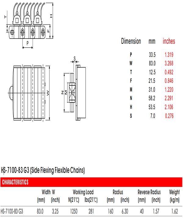 цепи 7100-83 G3