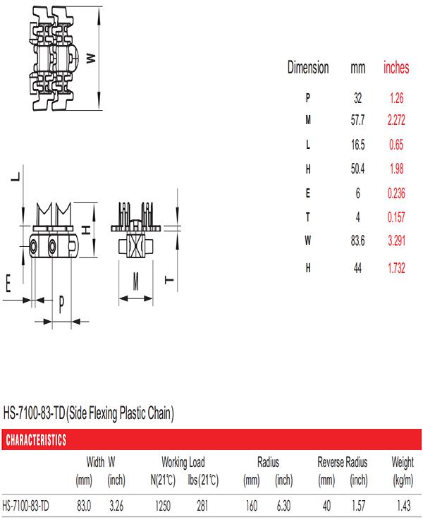 цепи HS-7100-83-TD