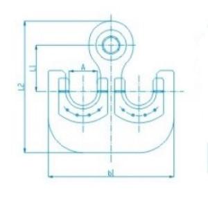 Крюк пластинчатый двурогий